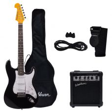 Pack de guitarra eléctrica WS300B, color negro