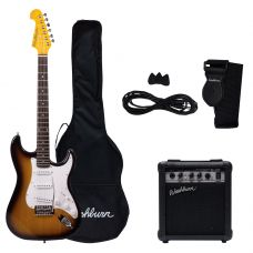 Pack de guitarra eléctrica WS300TS, color sunburst